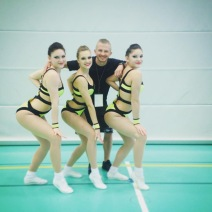 Jan Pochobradsky (coach) with Tonja Stukalina, Svenja Lussi, Daria Stukalina SA Senior Team